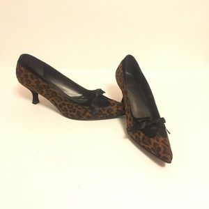 Stuart Weitzman Animal Print Suede Pumps 7.5